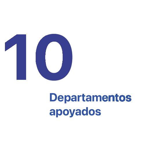 10 Departamentos apoyados
